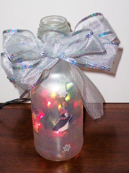 Small Lighted Christmas Bottle