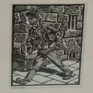 Harry Kernoff 1948 Woodcut