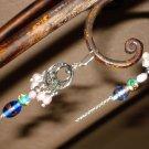 Circular twisted rope beaded earrings