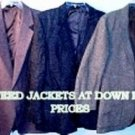 Wholesale  100% wool tweed jackets for as low as $3.49 each
