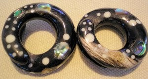 Hand Made Horn with Shell & Bone Inlay Spiral