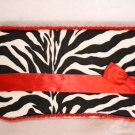 Red Zebra - Boutique Style Diaper  Travel Wipes Case