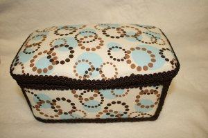 Brown/Blue Nursery Wipes Case - SALE