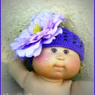 Big Purple Flower Crochet Hat