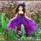 Brown Feather Princess Tutu Dress