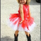 Red & White Bandana Tutu Set 4-8yrs