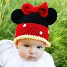 Disney Inspired Minnie Mouse Hat -Crochet Hat - for toddlers to Kids