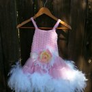 Princess Feather Dress 3-4yrs