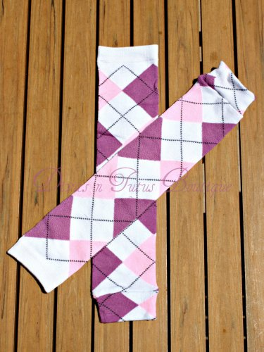 Purple/Pink Argyle Leg/Arm Warmer