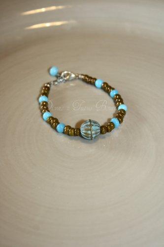 Brown & Teal Bracelet