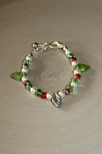 Green & Silver Leaves Bracelet