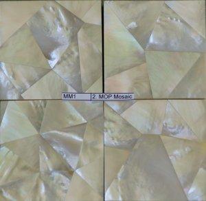 """White MOP Mosaic Tile 12"""" x 12"""" (100 pcs)"""