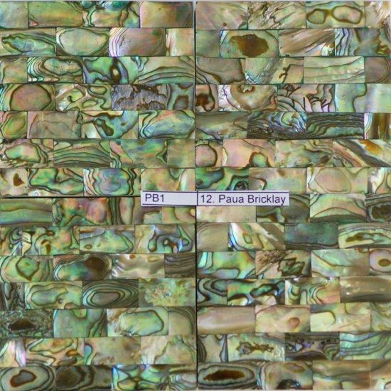 """Paua Bricklay Tile 2""""x2"""" (100 pcs)"""