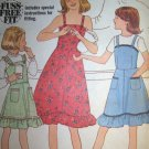 Vintage 1970s Fuss Free Fit 8544 Simplicity Pattern, Girls Sundress or Jumper Size 12 Uncut