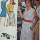 Simplicity 1980s Stretch 9405 Pattern Dress or Top and Skirt Size 10 12 14 Uncut