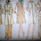 Vintage 1970s Simplicity 6231 Pattern Coat, Dress and Pants Size 12 Uncut