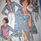 Vintage 1970s 4725 Butterick Pattern, Shirt and Tank Top Size 14 Uncut