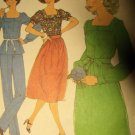 Vintage 1970s Simplicity 8356 Pattern Misses Blouse, Pants, and Skirt, Size 12, UNCUT