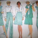 Vintage 1970s Simplicity 6351 Pattern Vest, Skirt and Pants Size 12 Uncut