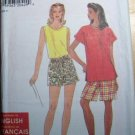Simplicity So Easy 7678 Pattern, Misses Tops and Shorts, Size 10 to 24 Uncut