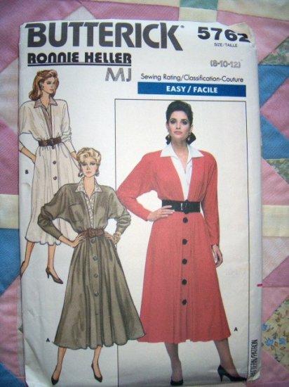 Couture Ronnie Heller Design Easy Misses Dress Butterick 5762 Pattern,  Size 8, 10, 12, Uncut