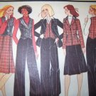 Vintage 1970s Carefree McCalls 5190 Pattern, Jacket, Vest, Skirt,  Bell Bottom Pants, Size 10, Uncut