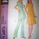 Vintage 1970s 2909 Step by Step McCalls Pattern, Misses Dress or Tunic and Pants Size 12 Uncut