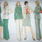 Vintage 1970s Simplicity 6191 Pattern Jacket, Skirt, and Pants Size 12 Uncut