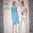 Vintage 1960s Vogue 8001 Pattern, Dress or Top and Pants Size 10 Uncut