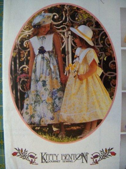 OOP McCalls Kitty Benton Gourmet 8700 Pattern, Childs Dress & Beret, Sizes 3, 4, 5  UNCUT