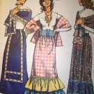 Vintage Hippy 1970s Simplicity 9672 Pattern, Misses Skirt, Stole and Belt, Size 12, 14, UNCUT
