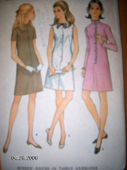 Vintage 1960s 9259 McCalls Pattern Dress, Size 10 Uncut