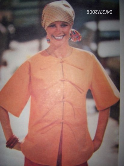 Vintage 1970s 4723 Butterick Pattern Top Size Medium 12 14 Bust 34, 36 Uncut