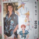 Vintage 1980s McCalls Easy 9570 Pattern, Misses Shirt and Bra Top, Size 14, 16, Bust 36, 38 Uncut