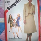 Vintage 5435 Simplicity Pattern, Misses Pullover Dress and lined Jacket Size 14, Bust 36 Uncut