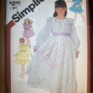 Vintage 1980s 5396 Simplicity Pattern, Girls Pullover Dress in two Lengths Size 7 Uncut