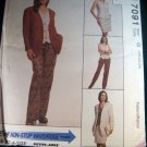 7091 McCalls Pattern, Unlined Jacket Vest Skirt & Pants Plus Size 20, 22, 24, bust 42, 44, 46, Uncut