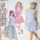 OOP Simplicity 9726 Girls Jumper Blouse Pattern, Size 7 to 14, Bust 26 to 32, Uncut, Out of Print