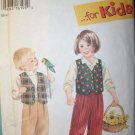 Simplicity 9266 Child/Toddler Boys Girls Pants & Lined Vest, Sz 2-3-4-5-6-6X UNCUT