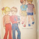 Vintage 1971 Simplicity 9948 Pattern Toddlers&#39; Child&#39;s Pants , Top, size 2,