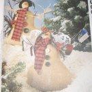 OOP McCall's Pattern 8998 Lumpy & Wife Primitive Snowman  Designer Anne McKinney, UNCUT, FF,