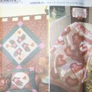 Simplicity Quilt Block Club Holiday  Pattern 9534 Heart Hand Piece, UNCUT