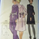 Vintage 6046 Butterick Pattern, Misses One Piece Dress or Blouse and Pants Size 12, Bust 34, Uncut