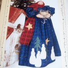 "Kate's Homespun Stitches Cold Hands Warm Heart 14"" Standing Snowlady Doll"