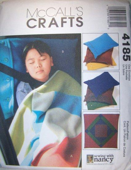 """McCall's 4185 Cozy Lap Quilt 54"""" and Pillow Case 21# x 29#  UNCUT"""