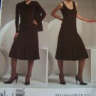 OOP Vogue Donna Karan V2867 Pattern, Shrug, Top, Skirt, Size 6, 8, 10, Bust 30.5, 31.5 32.5, UNCUT