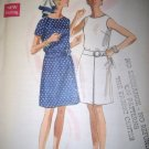 Vintage 1960s 5176 Butterick Pattern, Misses One Piece Dress Size 12, Bust 34, Uncut