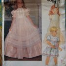 Rare Little Vogue 1980s Designer  2866 Pattern, Girls Dress &  Pinafore Size 6x, UNCUT, FF