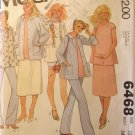 1970s McCalls 6468  Pattern, Maternity Wardrobe items, size 12, Bust 34, UNCUT