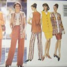 Butterick 4344 Jacket Vest Skirt, Pants Sewing Pattern, Size 8, 10, 12, Bust 31.5, 32.5, 34, UNCUT
